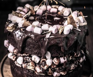 cake, food, and marshmallow image