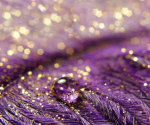 glitter, gold, and purple image