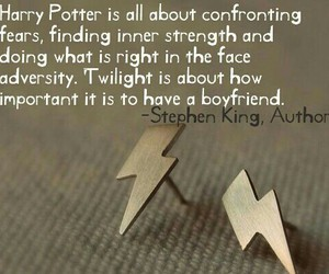 harry potter, twilight, and quote image