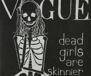 vogue, skinny, and dead image