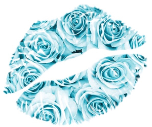 blue, kiss, and lips image