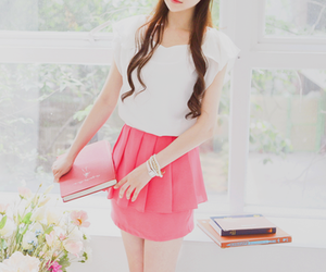 book, clothing, and pink image