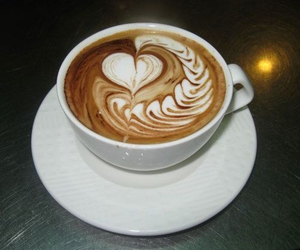 coffee, art, and heart image