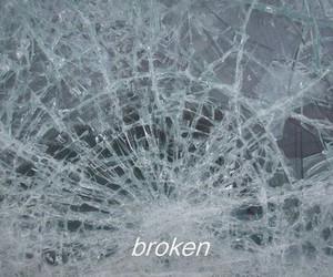 broken, glass, and grunge image