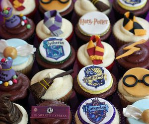 bday, cupcakes, and harry potter image