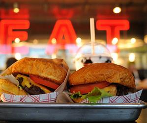 food, burger, and eat image