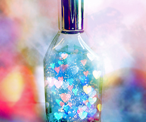 heart, bottle, and hearts image