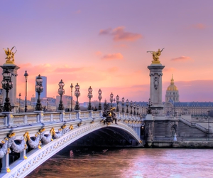paris, bridge, and city image