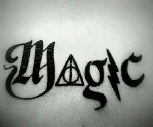 magic, harry potter, and tattoo image