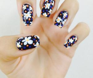 daisy, blue, and nails image