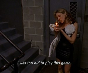 sex and the city, Carrie Bradshaw, and cigarette image