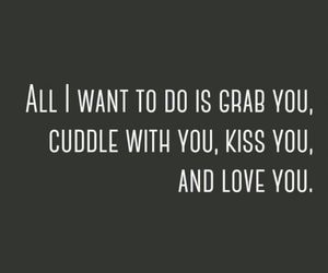 love, cuddle, and kiss image