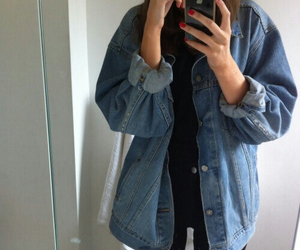i phone and denim fashion hipster image