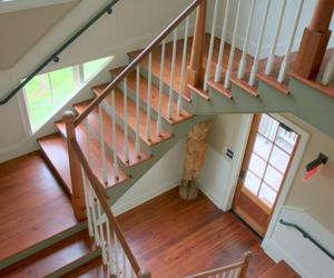 architecture, stair, and staircase image