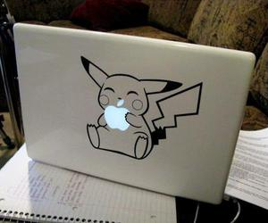 pikachu, apple, and pokemon image