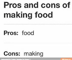argument, cons, and food image