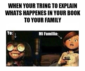 book, family, and read image