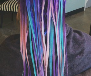 cool, dyed hair, and hair image