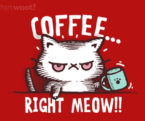 coffee, cat, and meow image