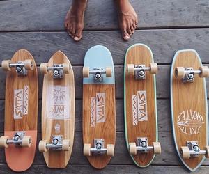 skateboard and wood image