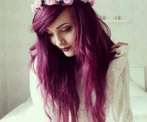 beauty, flower crown, and grunge image