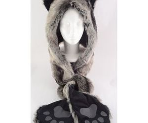 winter, wolf, and wolf hat image