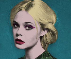 girl, flowers, and Elle Fanning image