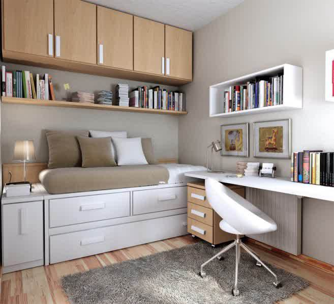 Good Home Design Ideas: Decoration. The Good Designs Of Small Bedroom Office Ideas