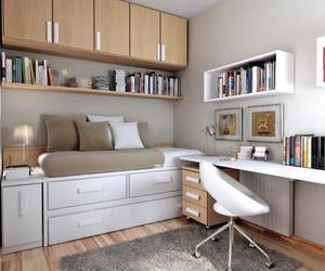 bedroom decorating ideas, home office design ideas, and small bedroom solutions image