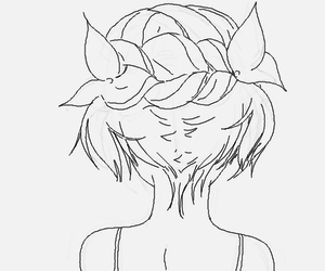 anime girl, hair, and cute image