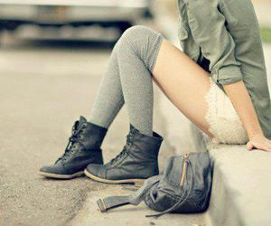 girl, fashion, and boots image