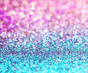 pink, blue, and glitter image