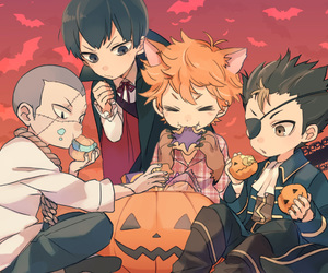 haikyuu, anime, and Halloween image