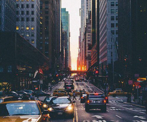 america, cabs, and city image