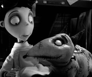 black and white, disney, and movie image