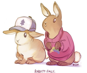 gravity falls, rabbit, and dipper pines image
