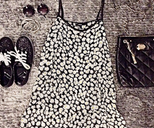 bags, black&white, and clothes image