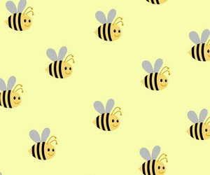wallpaper, bee, and yellow image