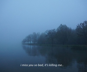 quote, miss you, and sad image