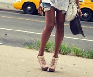 fashion, jeans shorts, and cute image