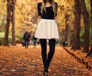 fashion, autumn, and skirt image