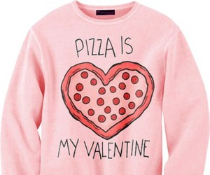 pizza, valentine, and sweater image