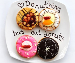 food, donuts, and yum image