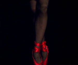 ballet, red, and dance image