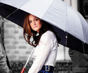 leighton meester and umbrella image