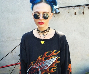 alternative, blue hair, and cigarettes image