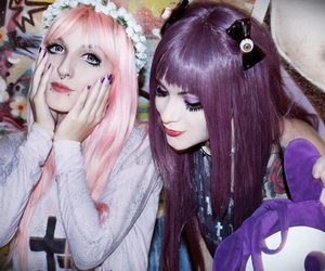 pastel goth, friends, and pastel image
