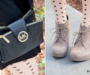 booties, Michael Kors, and heart tights image