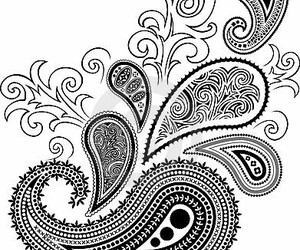 b and w, paisley, and designs image