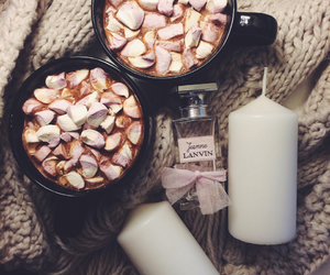 candles, home, and cocoa image